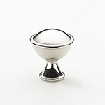 "1-1/4"" Belgrave Knob in Polished Nickel"
