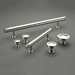 Corona Cabinet Pull Group Shot in Polished Nickel