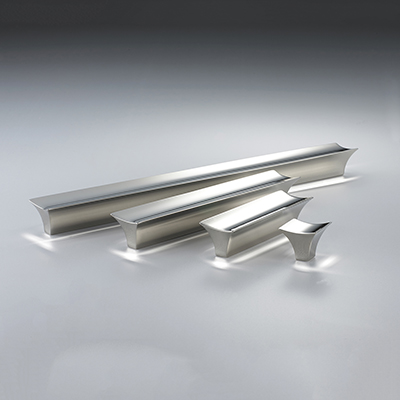 Glacier Pulls in Polished Nickel