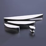 Snowdrift Cabinet Knob in Polished Nickel