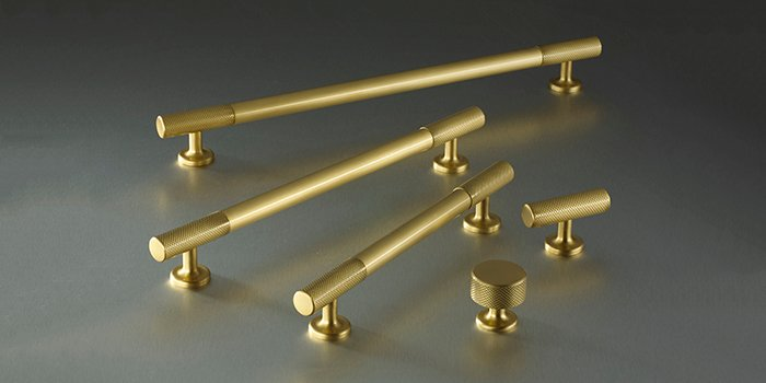 The Sparkbroook kitchen cabinet hardware line from Armac Martin