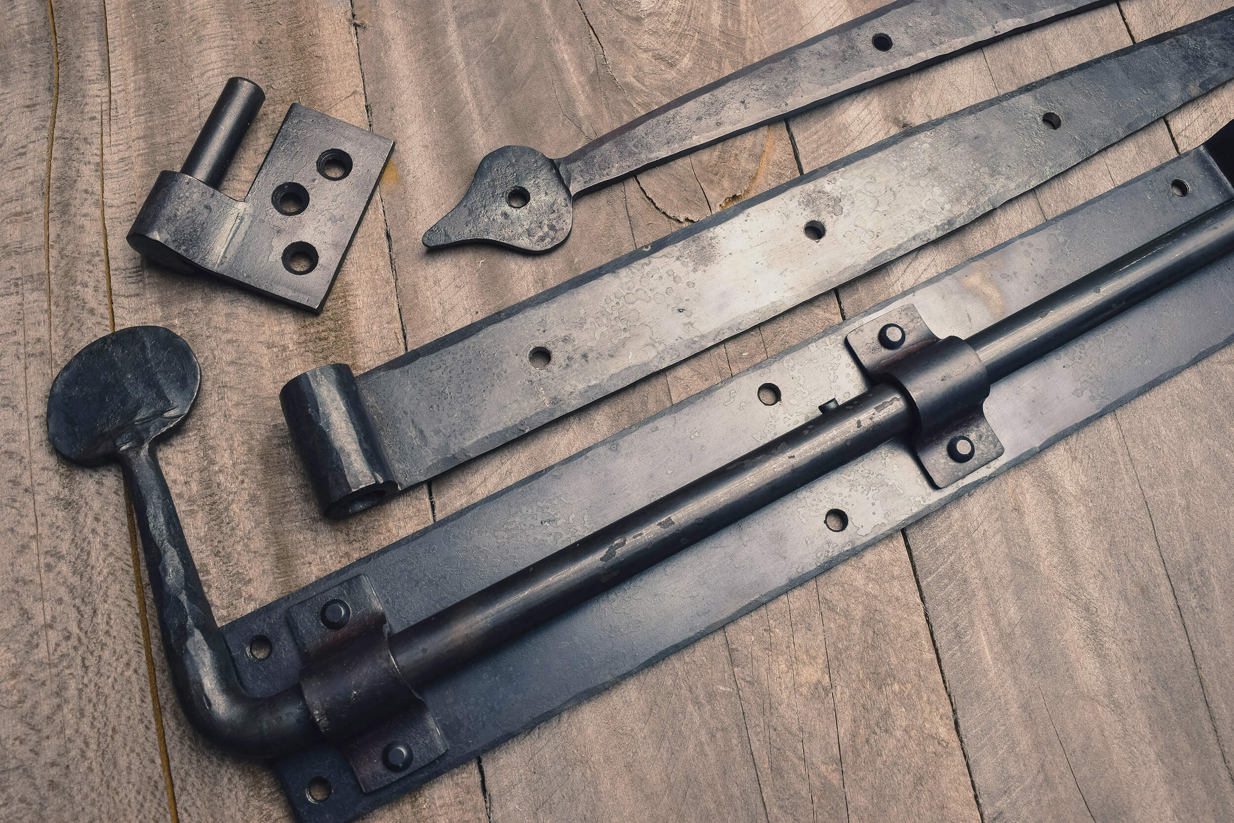 how to care for hand forged iron hardware