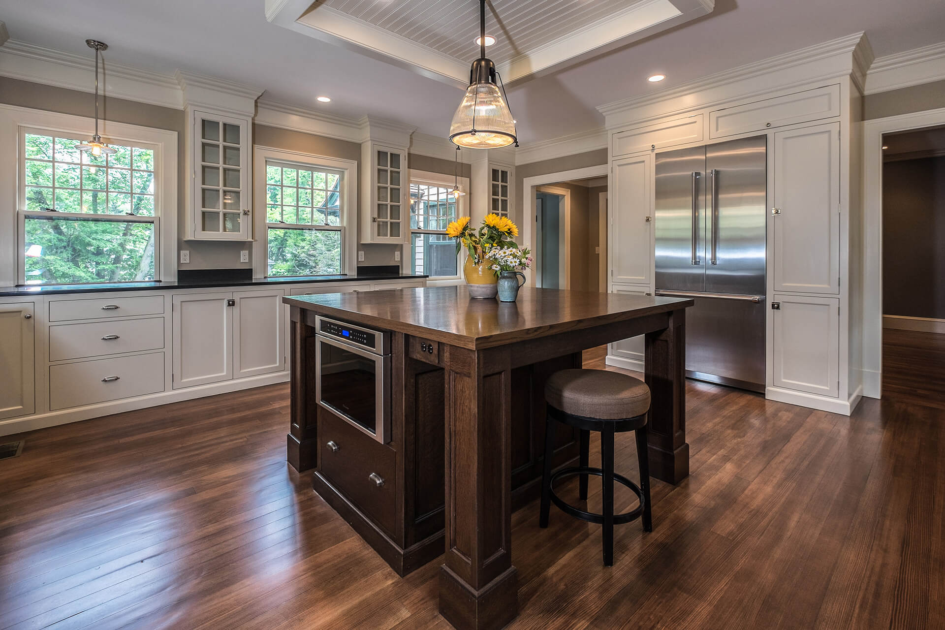 Kitchen cabinet hardware featured on Kennebec Company design