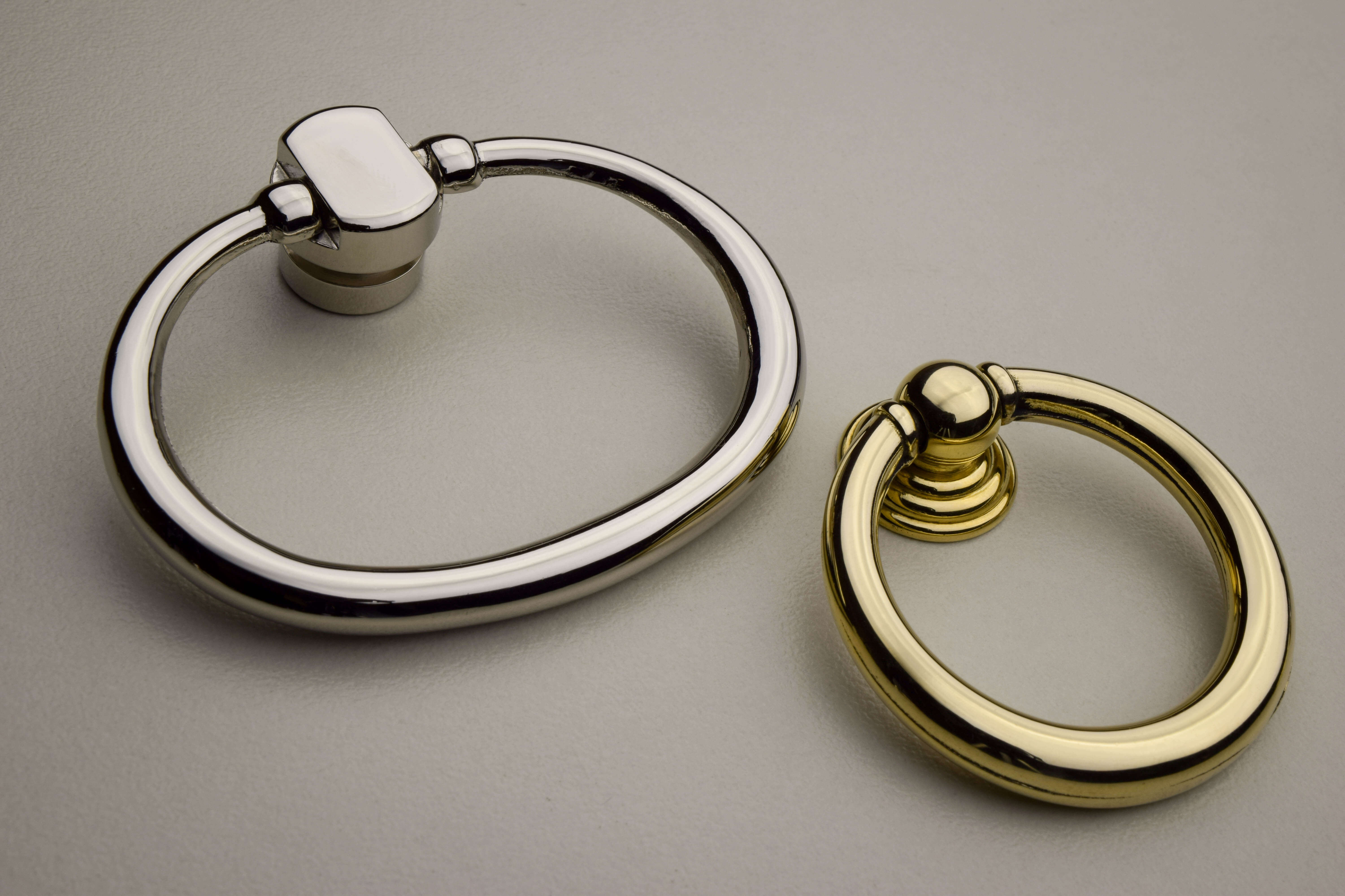solid brass ring pulls available in seven finishes