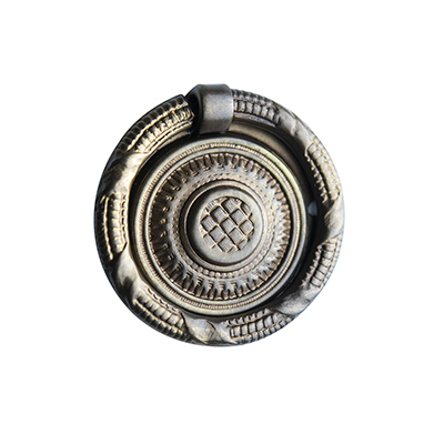 "H-32 2-1/2"" Basketweave Ring Pull"