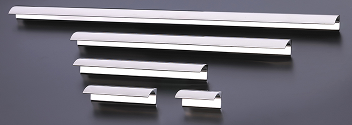 The Jaspette kitchen cabinet hardware line from Armac Martin