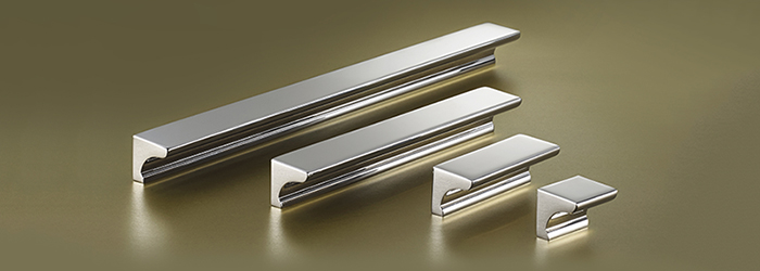 The Longbridge kitchen cabinet hardware line from Armac Martin