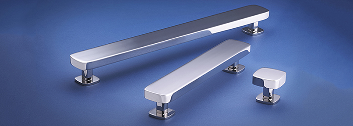 The Nova kitchen cabinet hardware line from Armac Martin