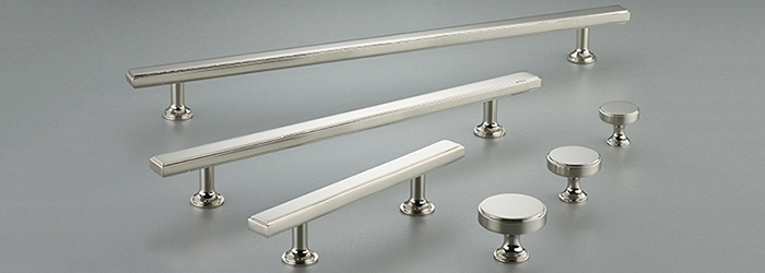 The Rotunda kitchen cabinet hardware line from Armac Martin