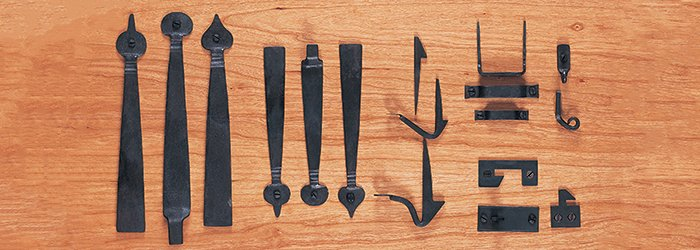 Hand Forged Iron Latch Set Parts