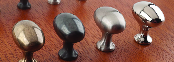Solid Brass Oval Knobs