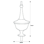 H-57 Clock Finial Line Drawing