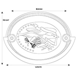 H-5 Flying Eagle Hepplewhite Drawer Pull Line Drawing