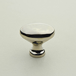 "K-40 1"" Polished Nickel Solid Brass Oval Knob"