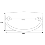 MS-24 Arts and Crafts Drawer Pull Line Drawing
