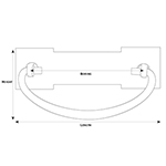 MS-29 Arts and Crafts Drawer Pull Line Drawing