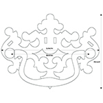 PC-81 Large Pierced Philadelphia Style Drawer Pull Line Drawing