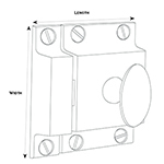 SL-6 Butler Pantry Latch Line Drawing