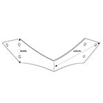 TH-30 Black Iron Diamond End Angled Trunk Bracket