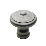 "1-1/2"" Heritage Knob in Pewter"