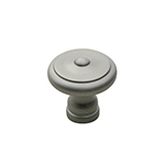 "1-1/4"" Heritage Satin Nickel Knob"