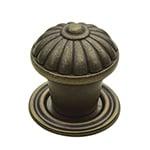 spool brass knobs with matching back plates