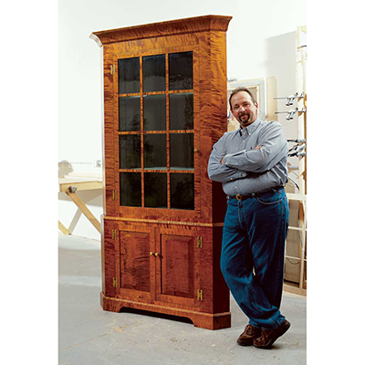 Early American Corner Cabinet as seen in Popular Woodworking