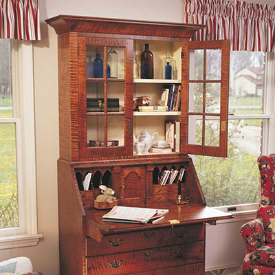 Traditional Secretary as Featured in Popular Woodworking