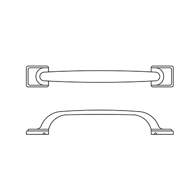 "MH-CWY-APP-1 18"" Brushed Brass Conway Appliance Pull"