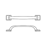 "MH-CWY-APP-1 18"" Bright Chrome Conway Appliance Pull"