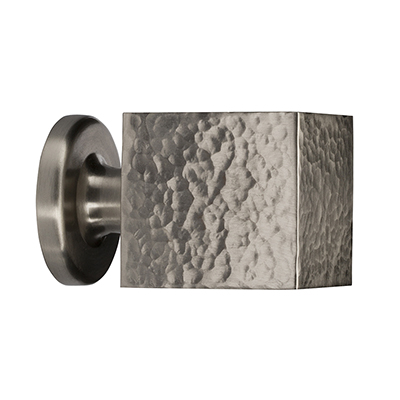 "MH-HAUK-1 1-1/4"" Hammered Brushed Nickel Haute Knob"