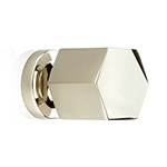 "MH-HXK-1 1-1/8"" Hexad Polished Nickel Knob"