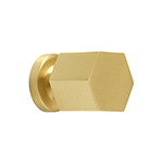"MH-HXK-1 1-1/8"" Hexad Brushed Brass Knob"