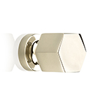 "MH-HXK-2 1"" Hexad Polished Nickel Knob"