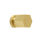 "MH-HXK-2 1"" Hexad Brushed Brass Knob"