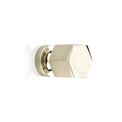 "MH-HXK-4 1/2"" Hexad Polished Nickel Knob"