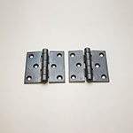 "HF-34 3x3"" Black Iron Door Hinge"