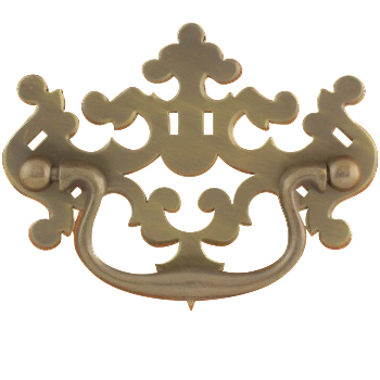 "PC-81 3"" Large Pierced Philadelphia Style Drawer Pull"