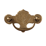 "QA-1 2-1/2"" Early Queen Anne Drawer Pull"